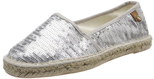 Tamaris Damen 24650 Slipper, Silber (Silver Sequins), 39 EU