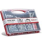 Fischer Kit Easy Box, Set di 252 Tasselli UX con Ganci Appendi Quadro e Viti Assortite per Fissaggio su Muro Pieno e Mattone forato, 513433
