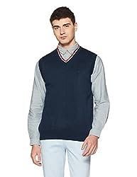 Arrow Sports Mens Wool Sweater (8903839249355_AKJS7516_Small_Navy)