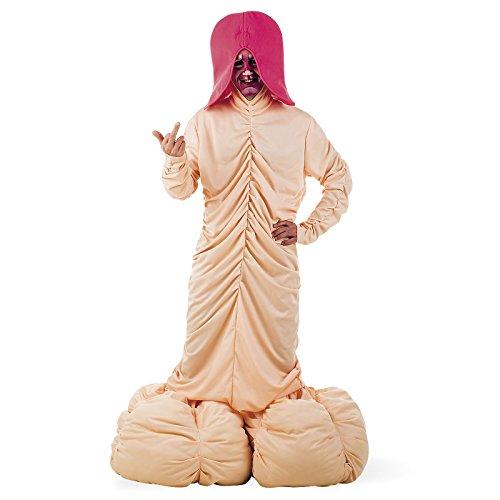 Riesen XL Penis Fun Kostüm Herren für Junggesellenabschied der Party Gag 4tlg - (Riesen Kostüme Penis)