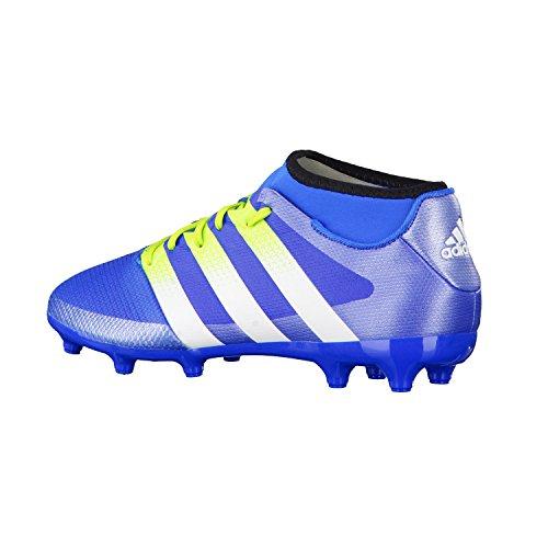 adidas Ace Primemesh Fg/Ag Terrain Souple, Chaussures de Football Amricain Homme, Blau (Shock Blue S16/Semi Solar Slime/Ftwr Whiteshock Blue S16/Semi Solar Slime/Ftwr White), Talla Unica Azul / Verde / Blanco (Azuimp / Seliso / Ftwbla)