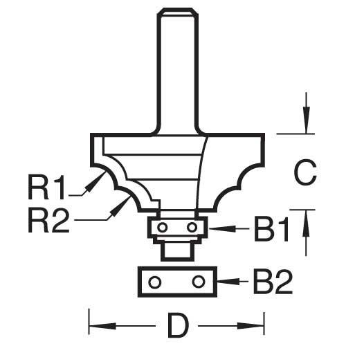 Trend - Bead ovolo Set 4mm Radius - 46/33X1/4TC
