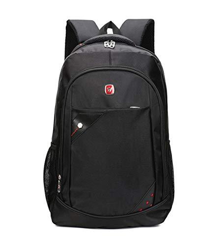 HF morning 15 6 Zoll Notebook Backpack Nylon Herren Laptoprucksack Groß Wasserdicht Rucksack Mode Einfarbig Schultasche