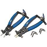 DRAPER rcp2-sg Soft Grip Ratschenmechanismus interne und externe Sicherungsring-Zange, Blau, Set 2Stück