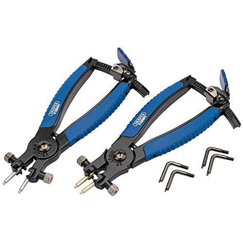 DRAPER rcp2-sg Soft Grip Ratschenmechanismus interne und externe Sicherungsring-Zange, Blau, Set 2Stück (Sicherungsring Zange Set)