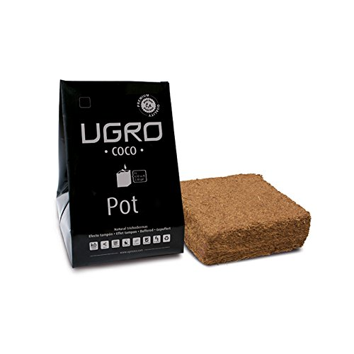 UGRO Kokos Brick Torf mit Flexible Growing Tasche Hält Ein 500Gramm Block der dehydrierte Bio Kokos-Substrat 4L Topf - Coco Grow Medium