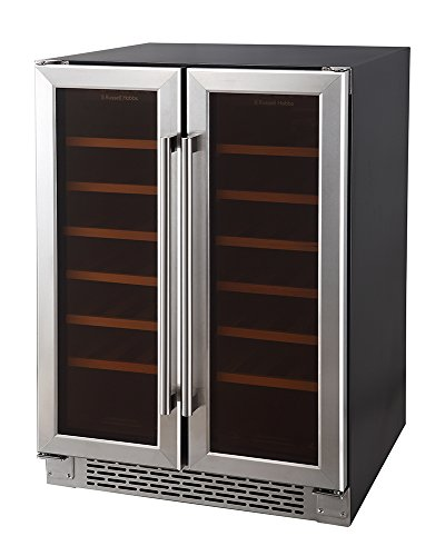 Russell Hobbs, Freestanding/Integrated, 36 Bottle Wine Cooler, RHBI36DZWC2SS Best Price and Cheapest