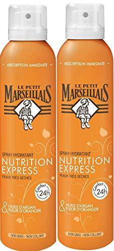 Le Petit Marseillais Spray Nutrition Express Huile d'Argan/Fleur d'Oranger 200 ml - Lot de 2