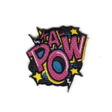Ecusson-zum Aufbügeln Pop Art KA POW.