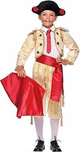 Fancy Me 8 Stück Italian Made Super Deluxe Baby + Ältere Jungen Gold Spanischer Rund um die Welt Karneval Kostüm Verkleidung Outfit 0-10 Jahre - Gold, 10 Years