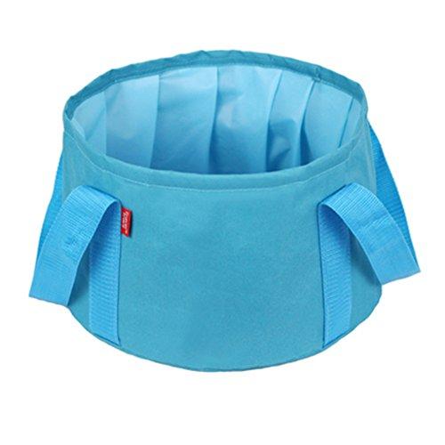 Lavabos de Salle de Bain Pliant Bassin Voyage extérieur lavabo Voyage Portable Pliage des bassins Pliant Bassin Voyage extérieur lavabo Pliant Sac cosmétique (Color : Blue, Size : 31 * 20cm)