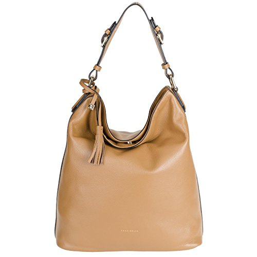 Coccinelle london 5-13-01-01 vE-c1 sac à main en cuir 37 x 32 x 16 cm - Camel