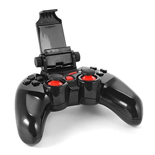 Preisvergleich Produktbild XCSOURCE® DOBE Wireless Bluetooth Gamepad Spiel controller mit Einstellbare Halterung Halter für iOS/ Android Smartphone/ Tablet/ Smart TV/ TV Box/ PC AC498