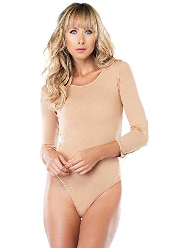 Leg Avenue Langärmelige Bodysuit Model PC8001Q Übergröße Nude, 1er Pack (Bodysuit Leg Avenue)