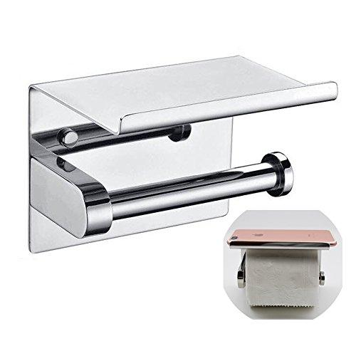 Toilettenpapierhalter Mit Deckel Aus Edelstahl Rollenhalter Bohren  Wandmontage Ständer Regal Für Küche Und Bad