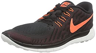 Nike Men's Free 5.0 Running Shoe Black/University Red/White/Hyper Orange 10.5 D(M) US