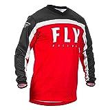 FLy da Corsa 2020 F-16 Ragazzi Motocross Maglia - Rosso Bianco Nero, L