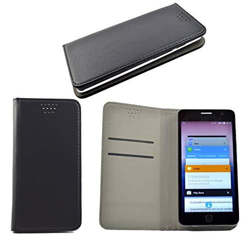 ikracase für Phicomm Energy 3 Plus Smartphone Schutzhülle Hülle Slide Kleber Cover Case Schutz Handy Tasche Cover Etui Handyhülle - Schwarz - 5.5