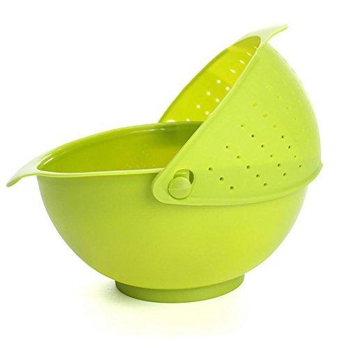EVANA Kitchen Wash Rice Thick Sieve Pot Plastic Drain vegetable washing Basket Fruit Basket Food Storage Accessories Home
