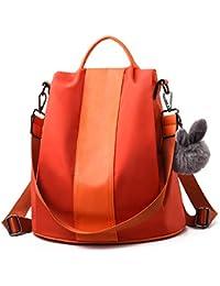 d1f57ac1e91f8 ... Handtaschen   Orange. Charmore Damen Rucksack Wasserdichte Nylon  Schultaschen Anti-Diebstahl Tagesrucksack Schultertaschen