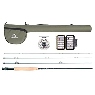 Maxcatch Explorer Fly Fishing Combo Kit 3/5/8 weight Fly Rod and Reel Outfit by Maxcatch