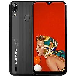 Smartphone débloqué 4G, Blackview A60 Pro (2019) Ecran 6,1 pouces Android 9.0, 3Go RAM+16Go ROM Dual SIM Téléphone Mobile Double caméra 8MP+5MP, Batterie 4080mAh - Reconnaissance Faciale & Fingerprint