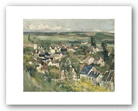 Auvers, panorama, 1873/75by Paul Cezanne arte stampa