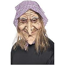 Horror-Shop Máscara de bruja vieja con un pañuelo ...
