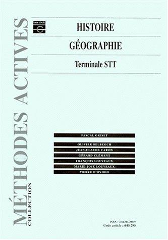 Histoire-géographie, terminale STT, livre de l'élève