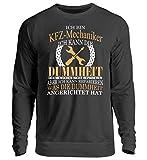 Ich Bin KFZ Mechaniker! Auto, Handwerker, Karre, Mechatroniker, Reparatur, Schrauben, Schrauber, Werkstatt T-Shirt Shirt - Unisex Pullover -M-Jet Schwarz