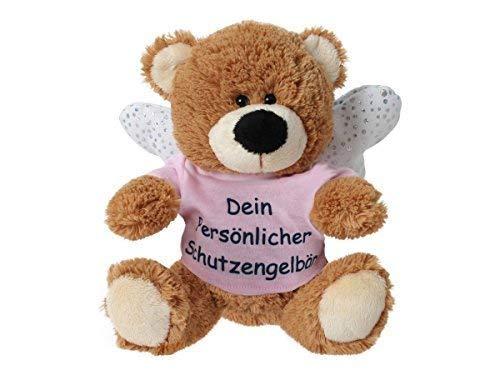 TE-Trend Anhänger Plüsch Schutzengelbär mit Flügel Spruchshirt (Schutzengel Bär)