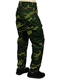 Army and Outdoors 6 Pocket Camouflage Combat Cargo Trousers - Waldland
