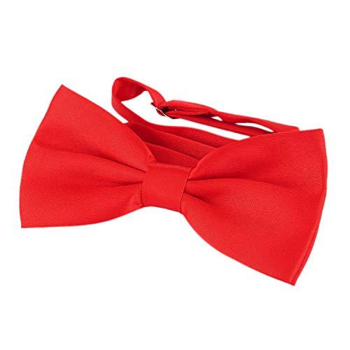 DonDon Edle rote Fliege bzw. Schleife mit Haken - bereits gebunden und - Kostüm Fliege Billig