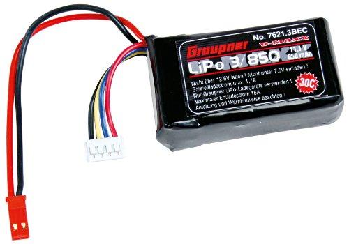 Preisvergleich Produktbild Graupner 7621.3BEC - Lipo-Akku V-MAXX 30C 3/850 11,1V BEC