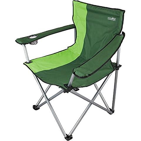 Sport 2000–Silla de camping Big Size dunkelgrün-grün