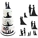 JoyGlobal 7 Piece/Set Wedding Couple For Valentine's Silhouette Stencil Cake Decorating Cutting Tool
