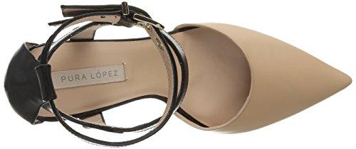 Pura Lopez Af150, Damen Schnürhalbschuhe Beige - Beige (Resina)