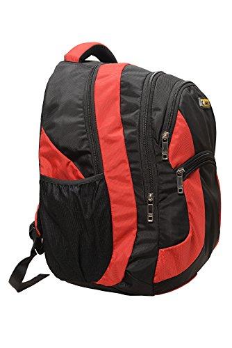 Leather Junction Leather Junction Red & Black Laptop Bag