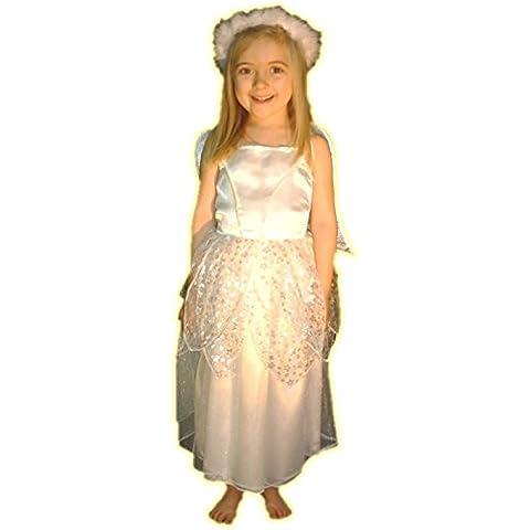 Silver Star Costume Costume Presepe Angelo: Bambino età Small 4–6anni - Corpetto Trim