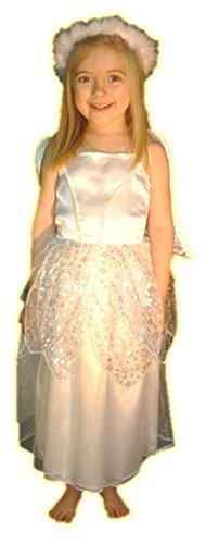 Kostüm Silver Kinder Star - Silver Star Angel Girls Fancy Dress Nativity Costume : Child Age 4 - 6yrs Small
