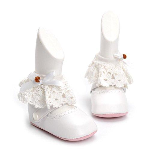 IGEMY Chaussons bébé Newborn Baby Toddler Sandales bébé Blanc