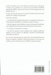 La version anglaise aux concours: CAPES - Agrégations