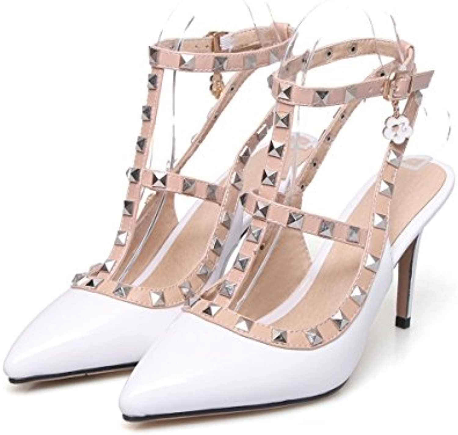 c7ac776793a K GQ K GQ K GQ sandals High Heels for Women Single Shoes Artificial PU  Stiletto Heels Pointed Rivets