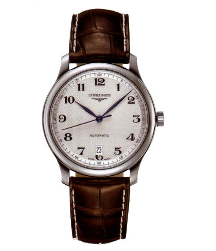 Uhr Longines Herren l26284783Schalter Stahl Quandrante Silber Armband Leder