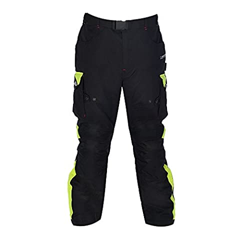 Oxford Montreal 2.0 MS Motorbike Motorcycle Outdoors Racing Textile Regular Pants Black/ Fluo 2XL/40