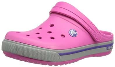 Crocs Crocband II.5, Unisex Kids' Clogs - Pink (Fuchsia/Light Grey), 1 UK