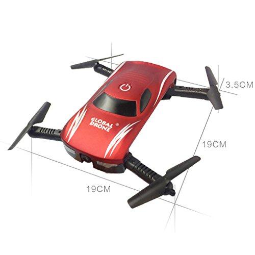 X185 / GW186 Luftaufnahmen Hochtasche Vier-Achs-Flugzeug Mini Falten UAV Spielzeug-Modell (red)