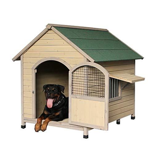 Zwingers Hundehütte Massivholz Pet House Outdoor Garten Wasserdichtes Haus Herausnehmbar Und Waschbar Indoor Pet House Hundekisten & Zwinger (Color : Green, Size : 55 * 85 * 88CM)