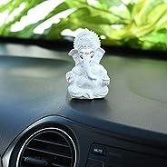 Collectible India Ganesha Idol Showpiece for Car Dashboard