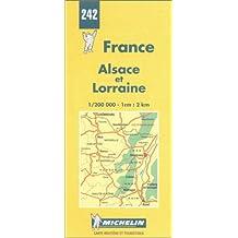 Carte routière : Alsace et Lorraine, N° 242